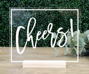 Cheers! Acrylic Bar Sign
