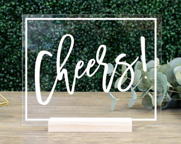 Cheers! Acrylic Bar Sign