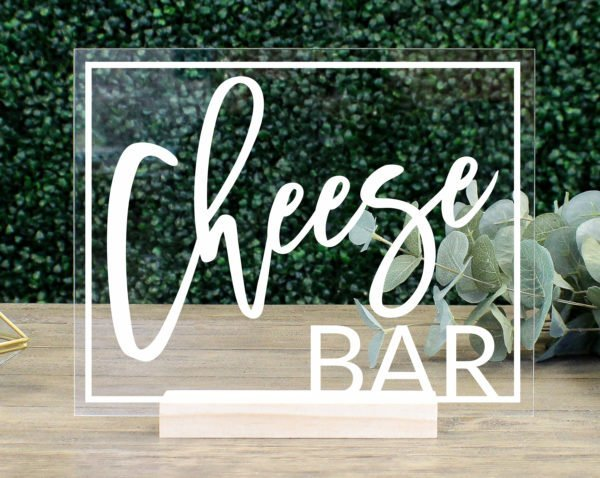 Cheese Bar Table Sign