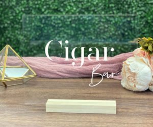 cigar bar table sign e