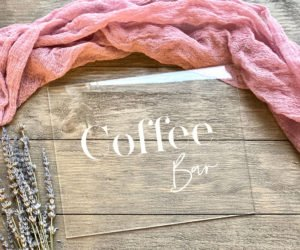 coffee bar table sign efa
