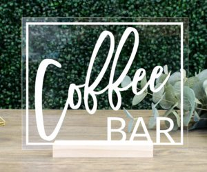 coffee bar table sign eac