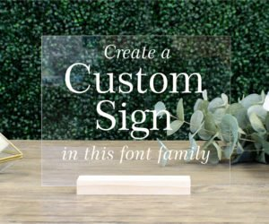 custom acrylic table sign ebc