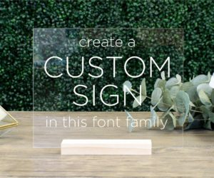 custom acrylic table sign ec