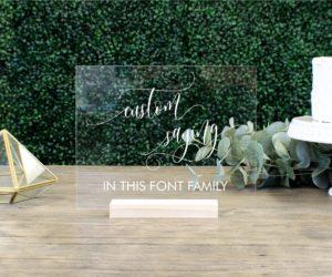 Custom Acrylic Wedding Table Sign