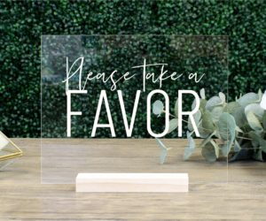 favors table sign efd