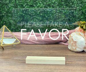 favors table sign eaf