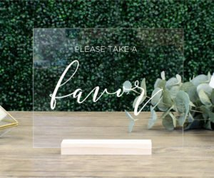 favors table sign efde