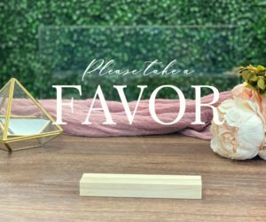 favors table wedding sign efa