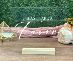favors table wedding sign efba