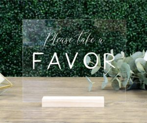 favors table wedding sign ef