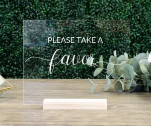 favors table wedding sign efc