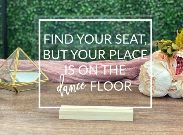 Seat Escort Table Sign