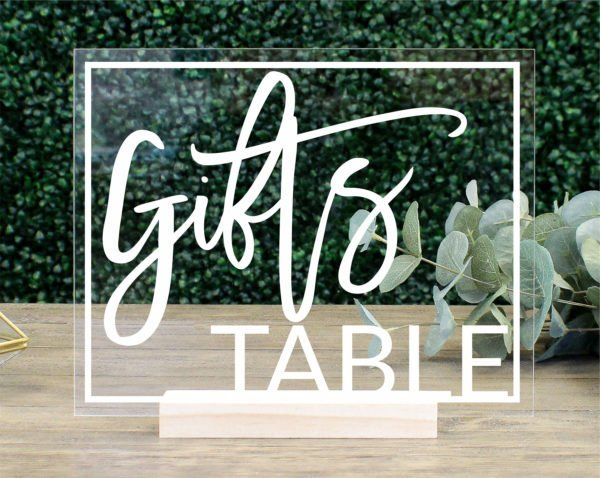 Gifts Table Sign