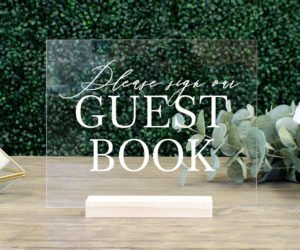 guest book table sign e