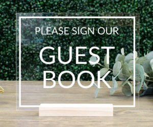 guest book table sign eee