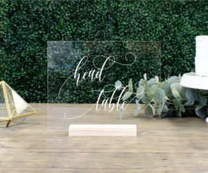 Head Table Acrylic Wedding Table Sign