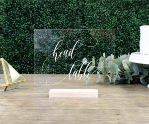 Head Table Acrylic Wedding Table Sign