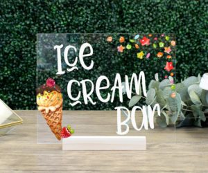 ice cream bar table sign eefe