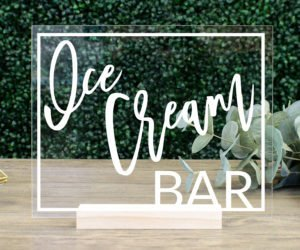 Ice Cream Bar Table Sign