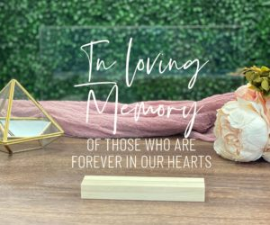 in loving memory memorial table sign efd