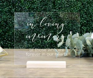 in loving memory memorial table sign efbf