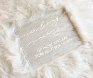 in loving memory memorial table sign ed