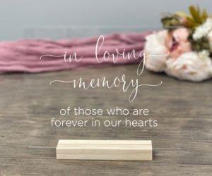 in loving memory memorial table sign eefd