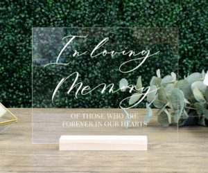 in loving memory wedding sign memorial table sign eeb