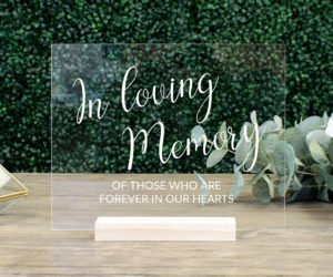 in loving memory wedding sign memorial table sign efcd