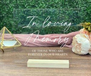 in loving memory wedding sign memorial table sign ef