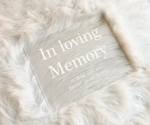 in loving memory wedding sign memorial table sign e