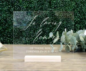 in loving memory wedding sign memorial table sign eeeb