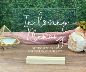 in loving memory wedding sign memorial table sign e