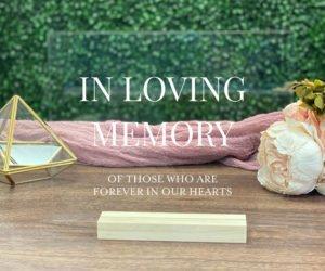 in loving memory wedding sign memorial table sign ec