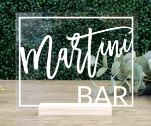 Martini Bar Table Sign