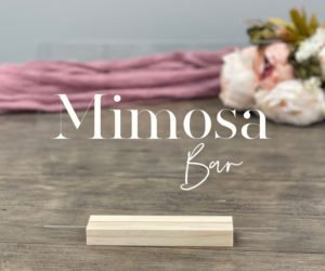 mimosa bar table sign eb