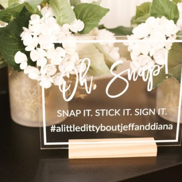 oh snap personalized hashtag sign ef