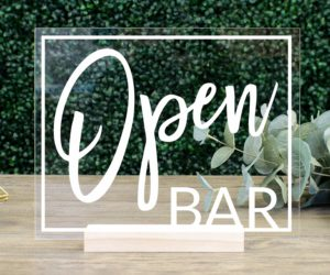 Open Bar Table Sign
