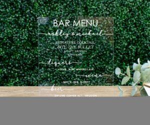 personalized bar menu sign eeab