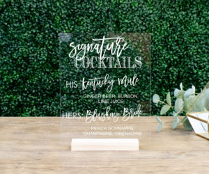personalized wedding cocktail sign eb