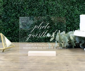 Photo Guestbook Table Sign