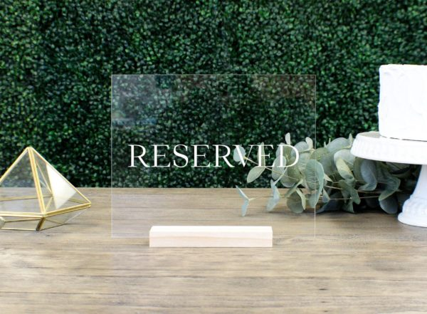 reserved table sign ede