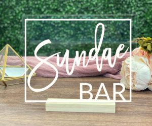 sundae bar table sign ebe