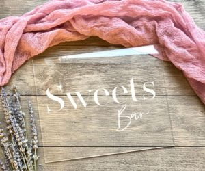 Sweets Bar Table Sign