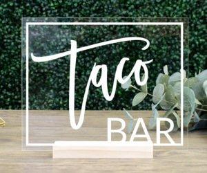 Taco Bar Sign