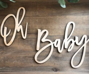 oh baby wood baby shower sign eade