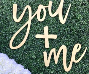 you and me wood sign eadfd