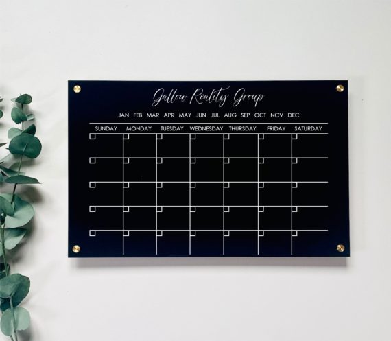 Monthly Acrylic Wall Calendar