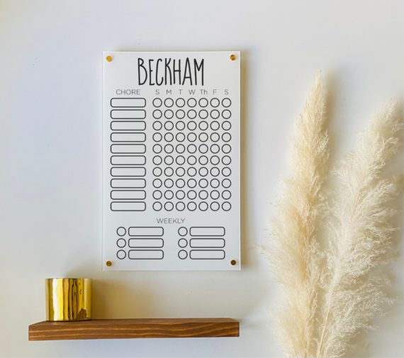 Personalized Chore Chart For Kids